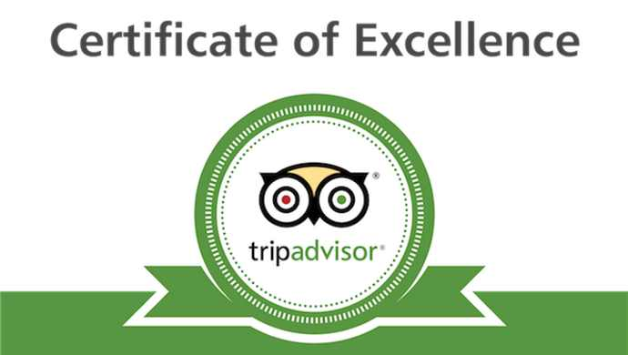 Adventures Through Kayaking TripAdvisor Certificate of Excellence